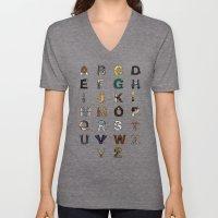 Star W. alphabet Unisex V-Neck