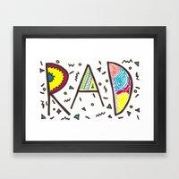 Rad Framed Art Print