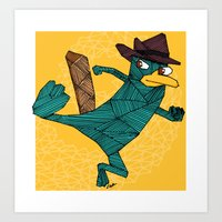My Perry the Platypus Art Print