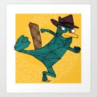 My Perry The Platypus Art Print
