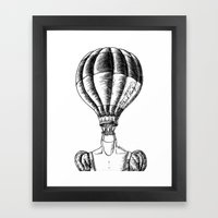 Think Freely in Contrast Framed Art Print