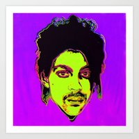 Prince / Warhol Remix Square Shape Art Print