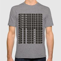 STUPID Mens Fitted Tee Tri-Grey SMALL
