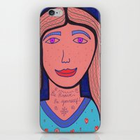 Be Brave.  Be Yourself! iPhone & iPod Skin