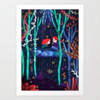 Darkest Part Of The Fore… Art Print