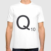 Scrabble Q Mens Fitted Tee White SMALL