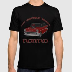 1957 #Chevy #Nomad Hot Rod SMALL Mens Fitted Tee Black
