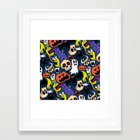Framed Art Print featuring Spooky Pattern by Chris Piascik