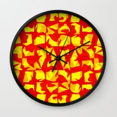 red shapes Wall Clock