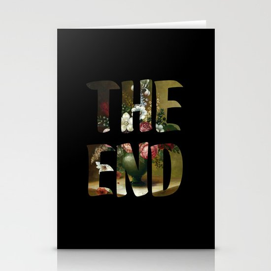 The END Stationery Card
