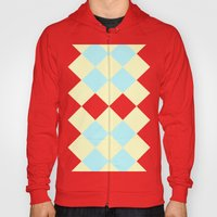 Checkers Yellow/Blue Hoody