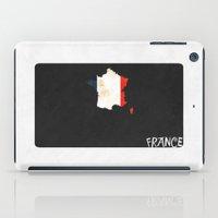 France Minimalist Vintage Map with Flag iPad Case