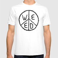 WEED-7 Mens Fitted Tee White SMALL