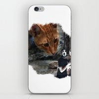 cat with pantomime confused iPhone & iPod Skin
