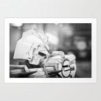 Thinking Gundam Art Print