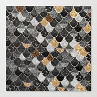 REALLY MERMAID BLACK GOLD Canvas Print