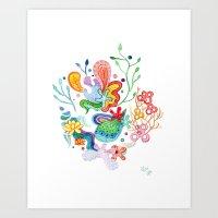 Aquatic Mood Art Print