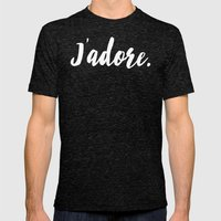 j'adore Mens Fitted Tee Tri-Black SMALL