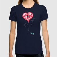 You Stole My Heart Womens Fitted Tee Navy SMALL