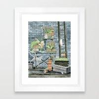 Garden Theme Framed Art Print