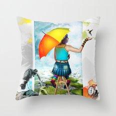 Paint Your Life Conceptual Art  Throw Pillow