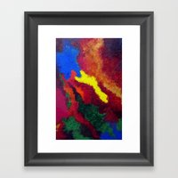 Autumn Abstract Painting Framed Art Print