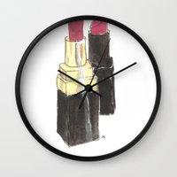 My lippies Wall Clock