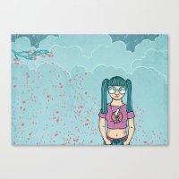 Cloud Girl Canvas Print