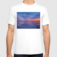 Fallstreak Sunset Mens Fitted Tee White SMALL