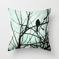 Bird silhouette Throw Pillow