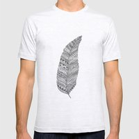 Feather Mens Fitted Tee Ash Grey SMALL