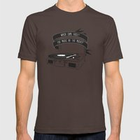 Which Came First, The Music or The Misery? Mens Fitted Tee Brown SMALL