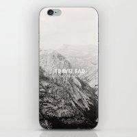 TRAVEL FAR to YOSEMITE (b&w)  iPhone & iPod Skin