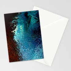 Abstract blue, white and purple painting photography Stationery Cards