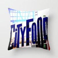 City Food Throw Pillow