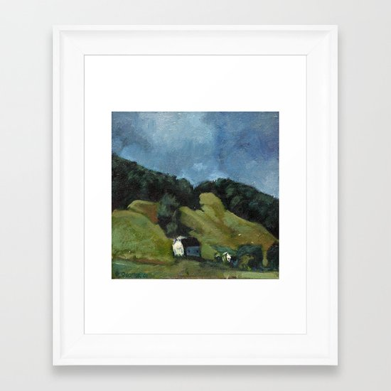 Near Laurel Branch Framed Art Print