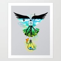 dream catcher Art Prints featuring Dream Catcher by Enkel Dika