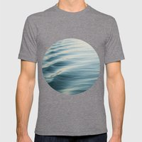 Water Ripple Mens Fitted Tee Tri-Grey SMALL