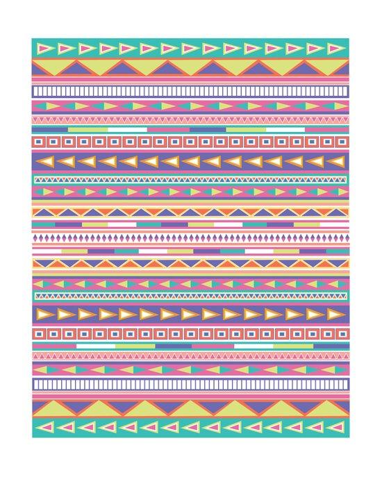 Geometric Pastel Pattern Art Print
