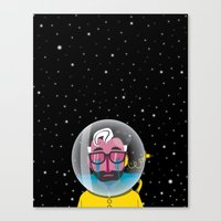 No one can hear you cry in space Canvas Print