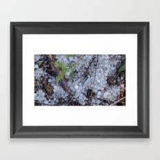 Midsummer Hailstones Framed Art Print