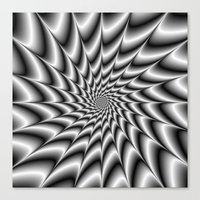 Silver Vortex Canvas Print
