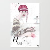 H Is For Home Canvas Print