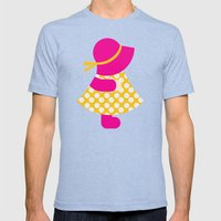 Paper Doll Mens Fitted Tee Tri-Blue SMALL