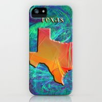 iPhone 5s & iPhone 5 Cases featuring Texas Map by Roger Wedegis