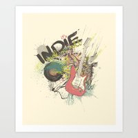 It's Indie Rock'n'Roll Art Print