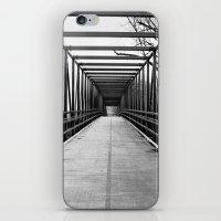 Bridge to Nowhere Black and White Photography iPhone & iPod Skin