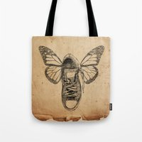 Flying sneakers Tote Bag