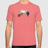 Blue Series #003 ~ Freed… Mens Fitted Tee Pomegranate SMALL