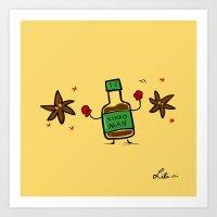 Soy Sauce & Anise Art Print